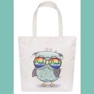Bags - Owl With Sunglasses Tote Bag